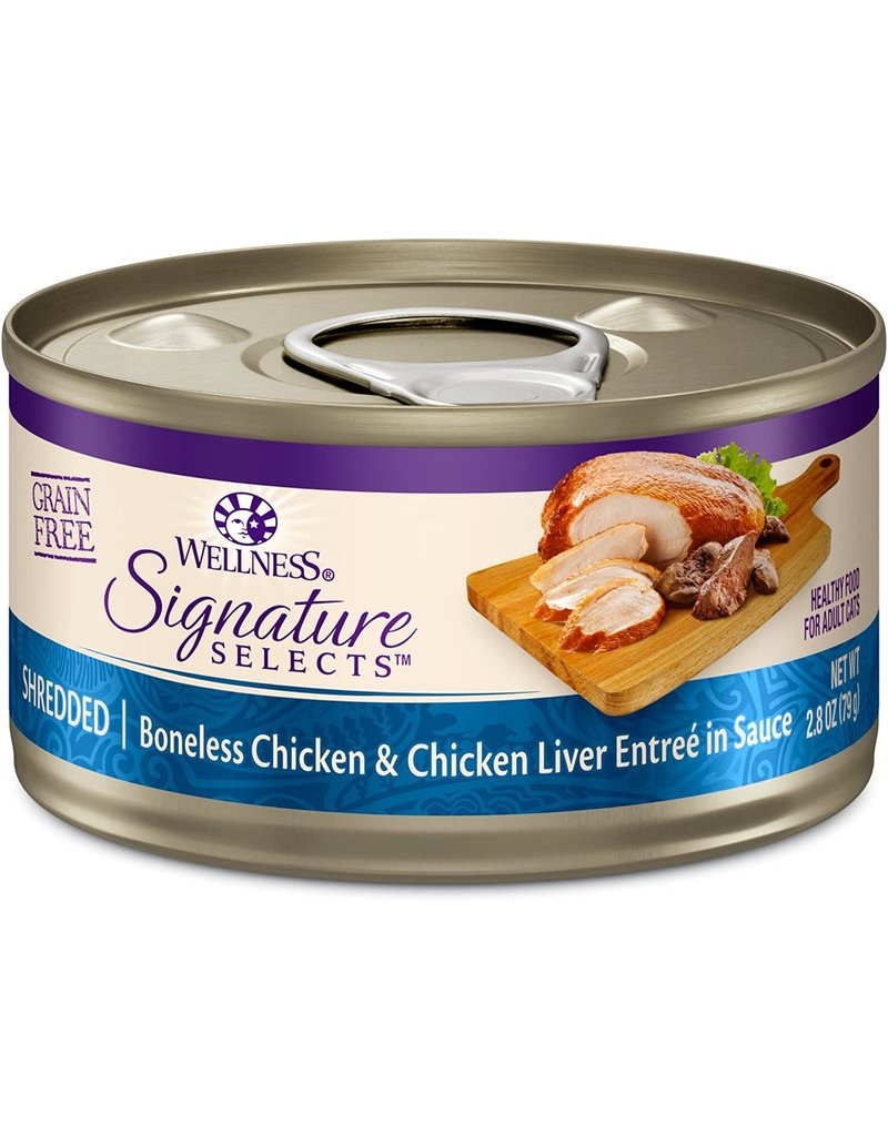 Wellness Canned Cat Signature Selects Chicken & Chicken Liver Shredded 5.3 oz