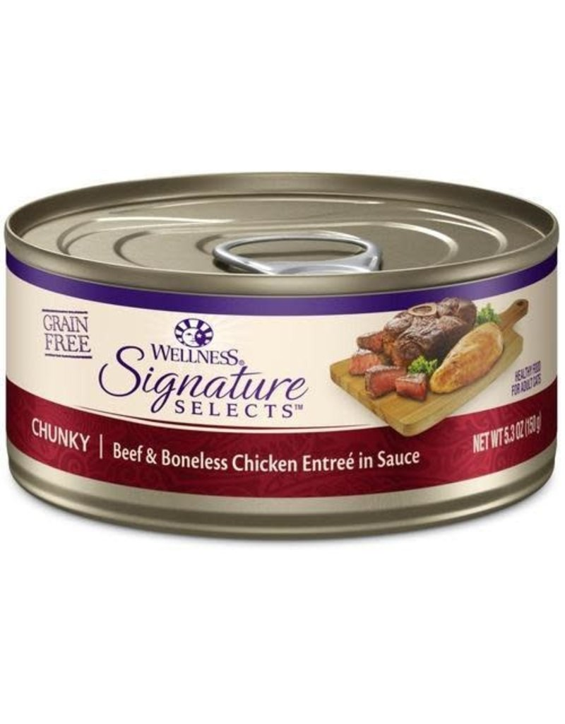Wellness Canned Cat Signature Selects White Meat Chicken W/ Beef Chunky 2.8 oz