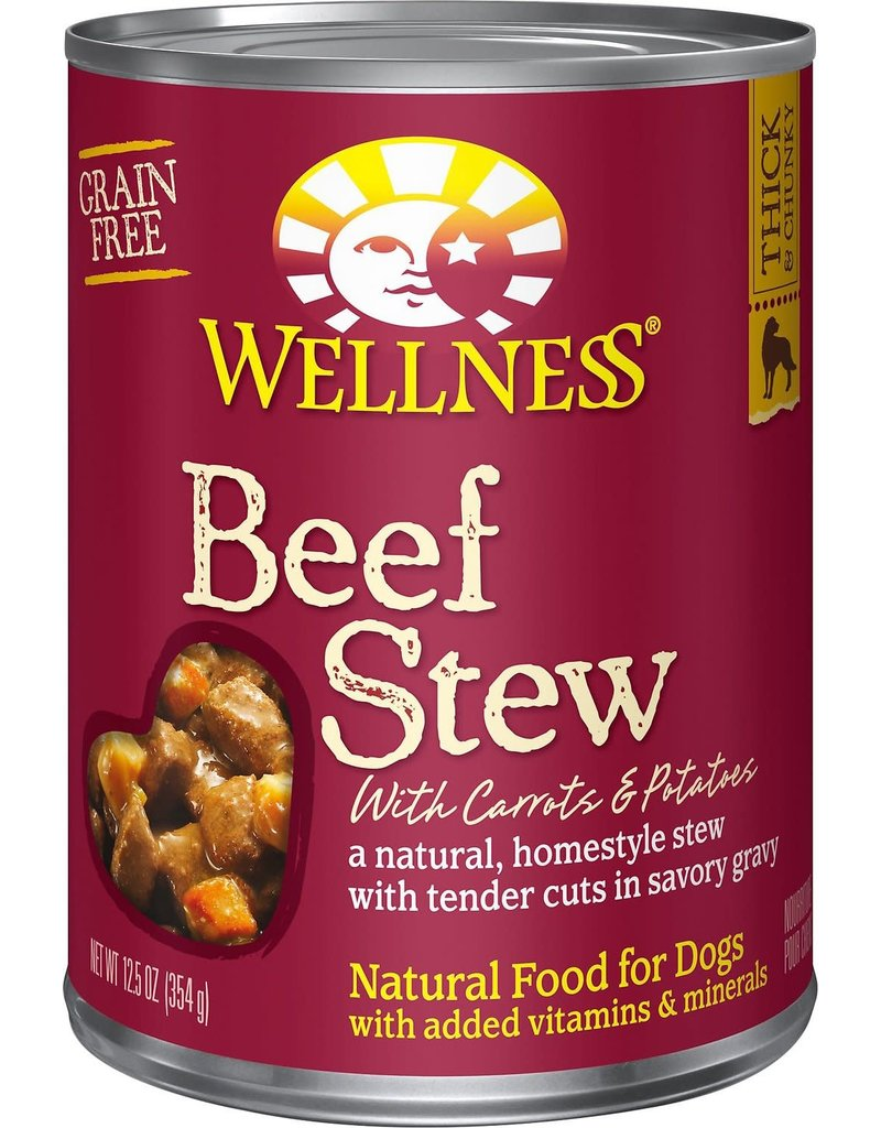 Wellness Beef Stew Dog Canned 12.5 OZ