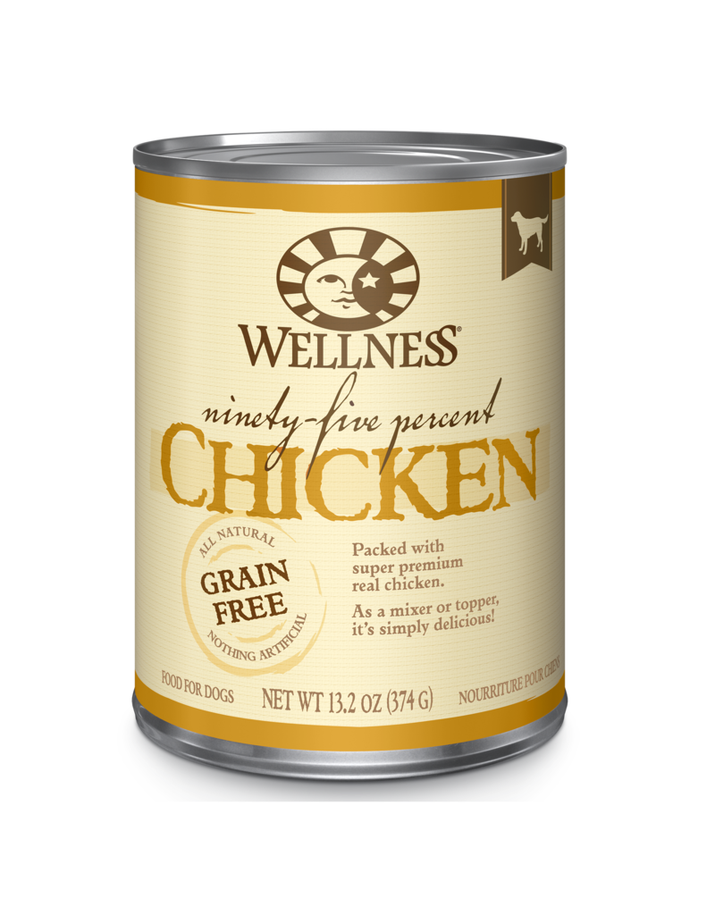 Wellness Canned Dog 95% Chicken 13.2 oz