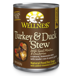 Wellness Canned Dog Turkey Duck Sweet Potato Stew 12.5 oz