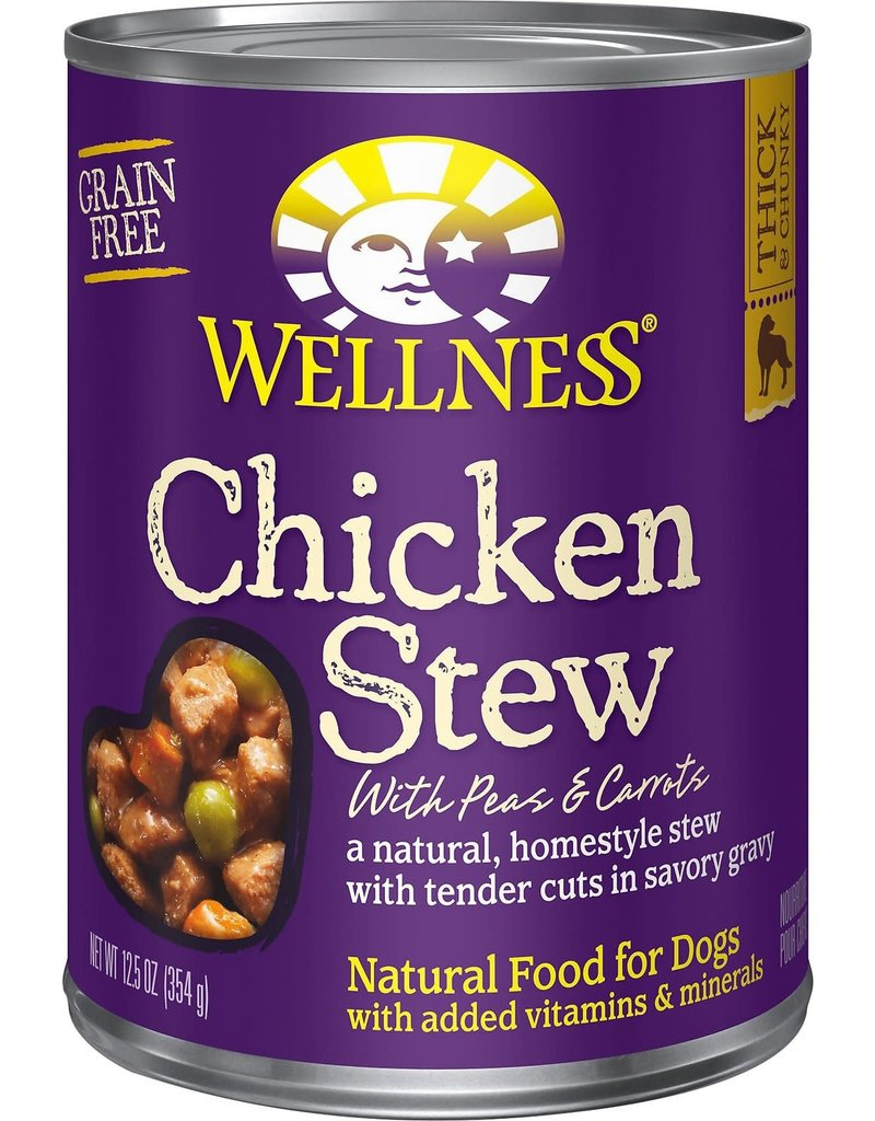 Wellness Canned Chicken Stew Dog 12.5 oz