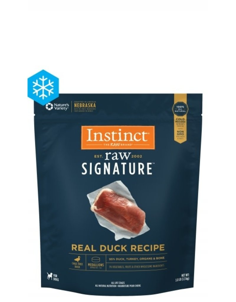 Nature's Variety Raw Frozen Dog Instinct Medallions Duck 3 LB