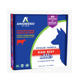 ANSWERS DOG FROZEN DETAILED BEEF NIBBLES 2.2 LB
