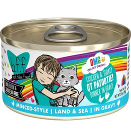Weruva BFF Canned Cat OMG QT Patootie Chicken Turkey 5.5 Oz