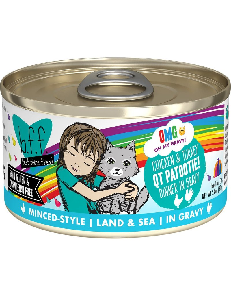 BFF Canned Cat OMG QT Patootie Chicken Turkey 5.5 Oz