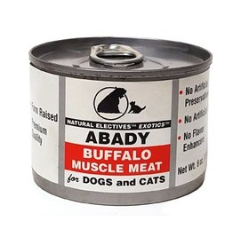 Abady Canned Cat & Dog Natural Electives Exotics Buffalo Muscle Meat 6 oz