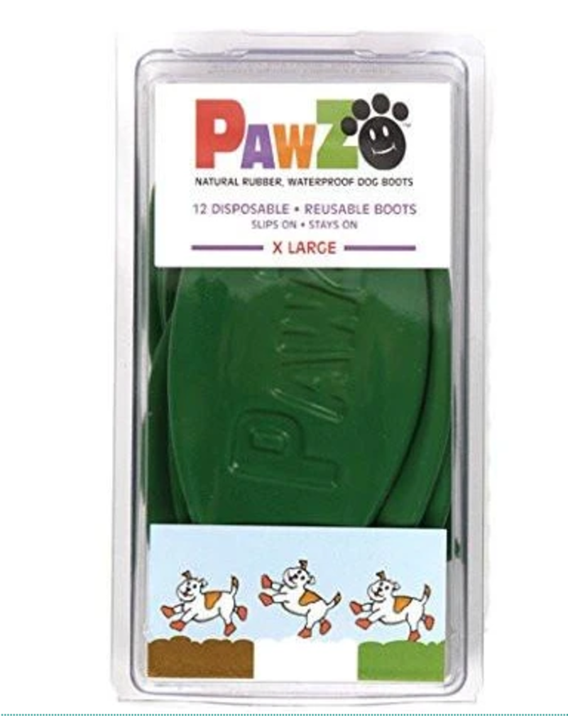 Pawz PAWZ BOOTIES GREEN TINY 12 CT