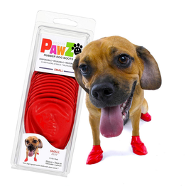 Pawz PAWZ BOOTIES RED Small 12 CT