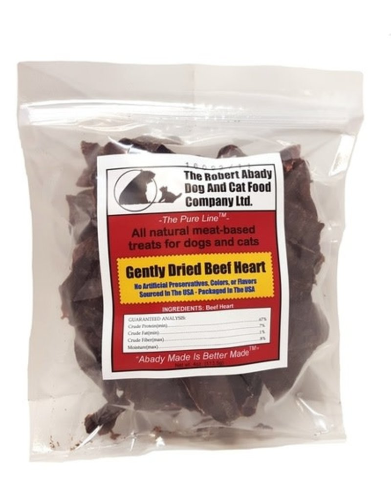 Abady Dog & Cat Treat Beef Heart 2oz