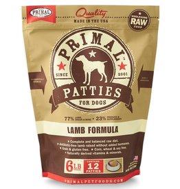 Primal Dog Frozen Raw Lamb Patties 6 LB