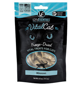 Vital Essentials Freeze-Dried Cat Treats Minnows 0.5 Oz