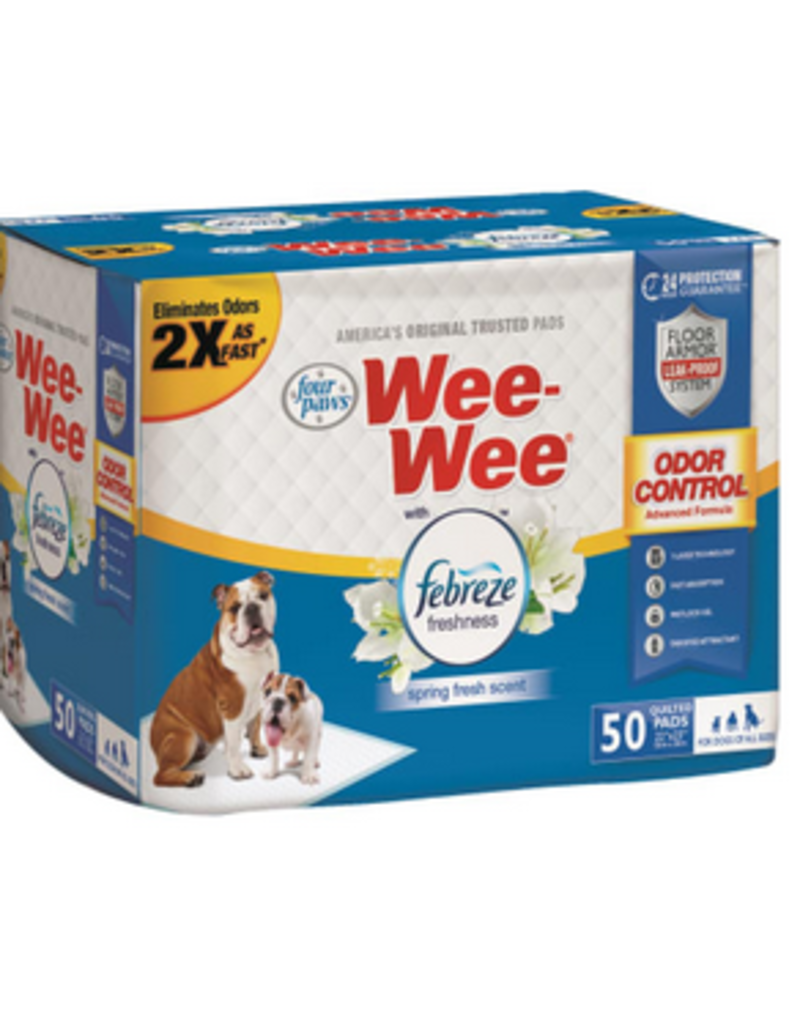 Four Paws Wee Wee Pads 50 Ct