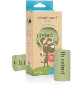 Earth Rated Dog Poop Bags Compostable Unscented 4 Rolls