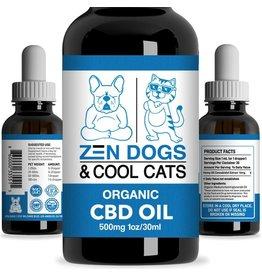 Zen Dogs & Cool Cats Zen Dogs & Cool Cats Organic CBD Oil 500 MG 1 Oz