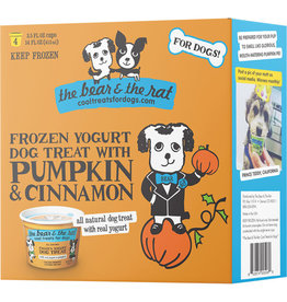 Bear and The Rat Bear & the Rat Frozen Dog Yogurt Pumpkin 3.5 Oz 4 Pack
