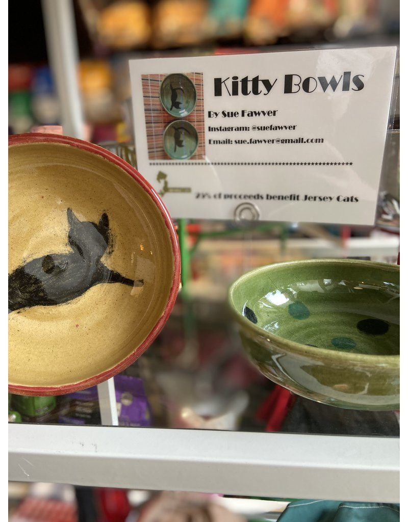 Sue Fawver Handmade Kitty Bowl by Sue for Cat