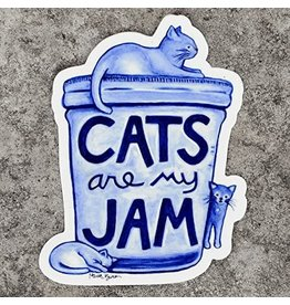 Xenotees Xenotees Cats are my Jam Vinyl Sticker