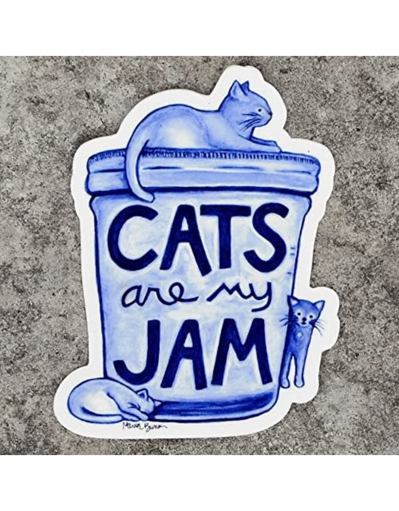 Xenotees Xenotees Cats are my Jam Vinyl Sticker