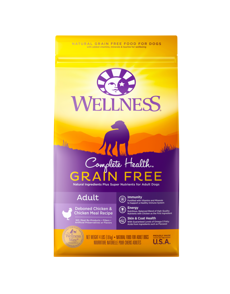 Wellness Dry Dog Complete Health Natural Grain Free Chicken 12 Lb
