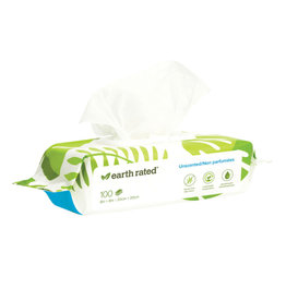 EARTH RATED POOPBAGS Earth Rated Dog Grooming Wipes Unscented 100CT