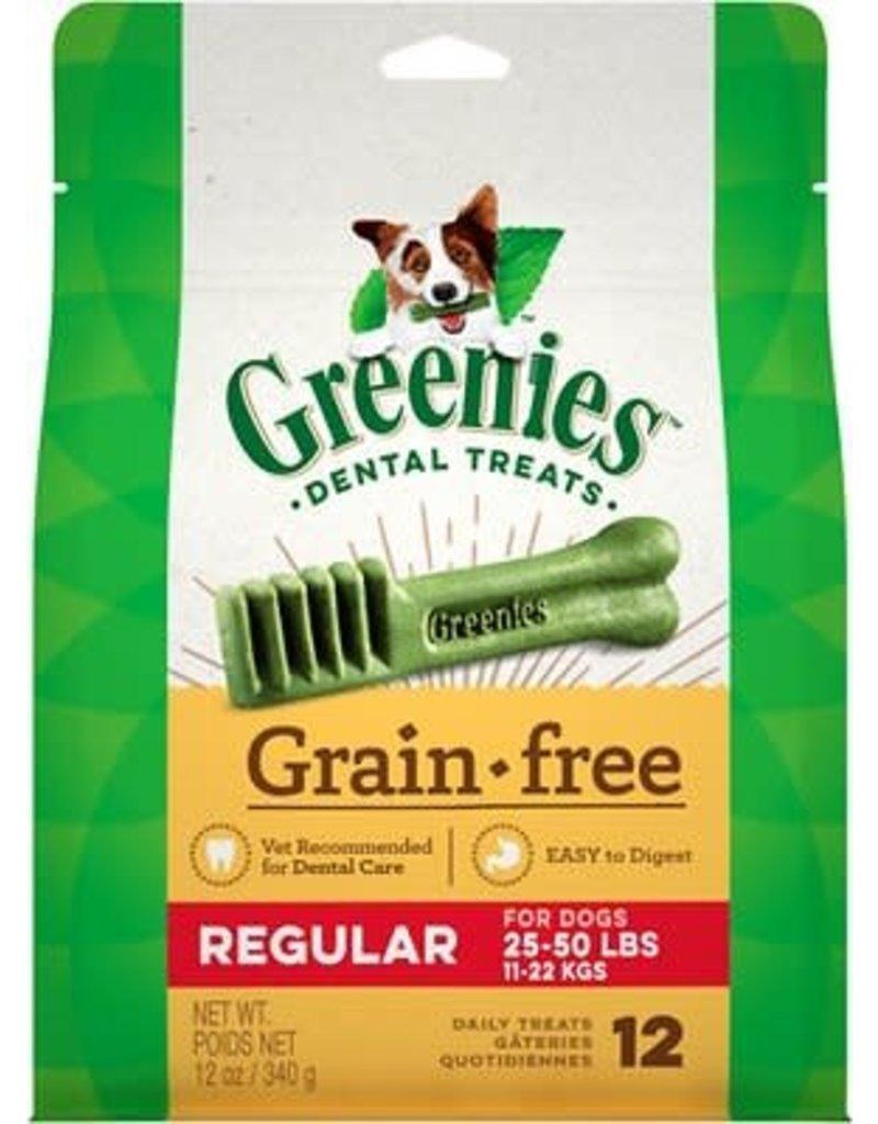 GREENIES DOG GRAIN FREE Regular 12 CT 12 oz