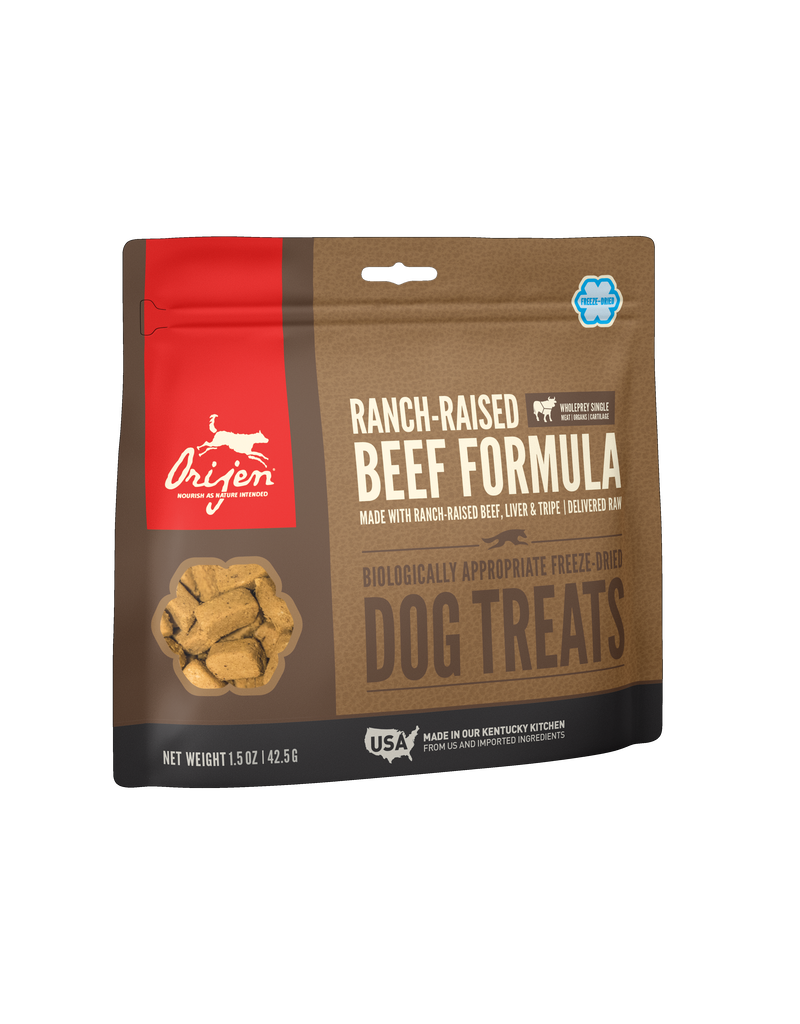 Orijen Dog Treat Ranch Raised Beef 3.25 OZ