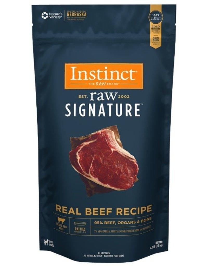 Natures Variety Instinct Signature Frozen Raw Dog Beef Patties 6 Lb
