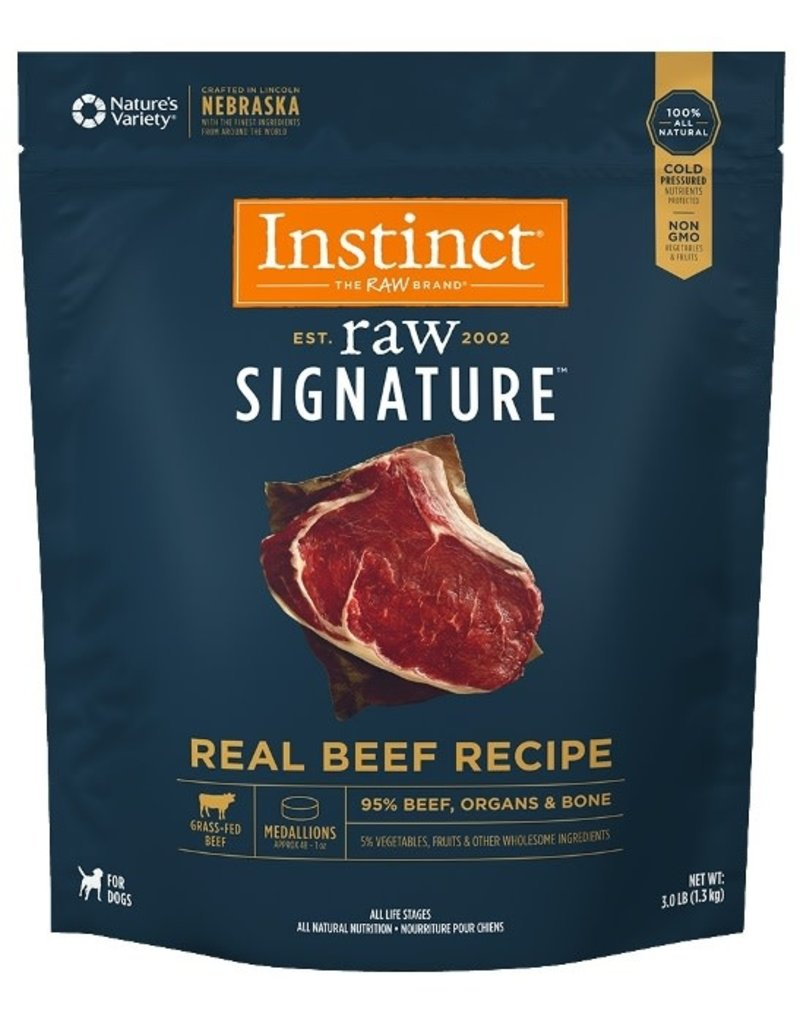 Nature's Variety Raw Frozen Instinct Medallions Beef 3 lb