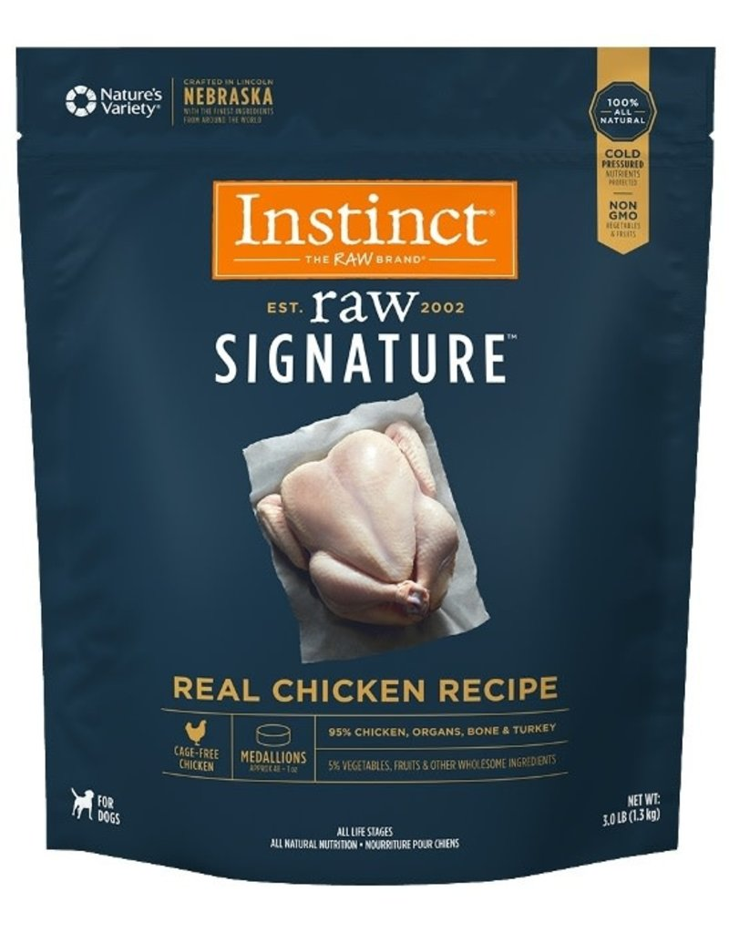 Natures Variety Raw Frozen Instinct  Medallions Chicken  3 LB