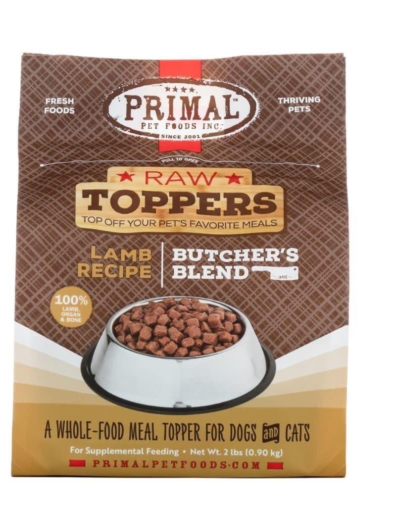Primal Frozen Raw Butcher's Blend Topper Lamb 2LB