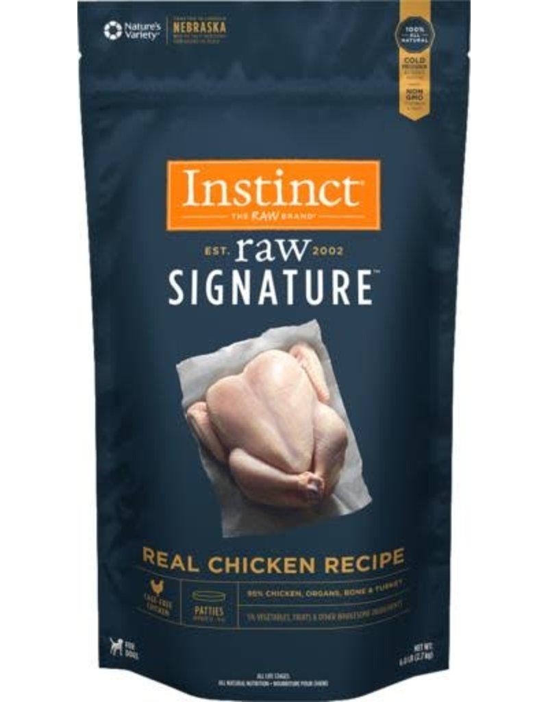 Natures Variety Instinct Signature Frozen Raw Dog Chicken Patties 6 Lb