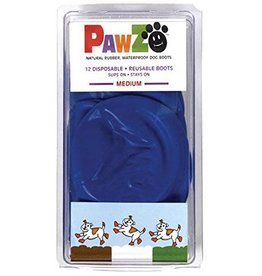 Pawz Pawz Booties Medium Blue 12PK