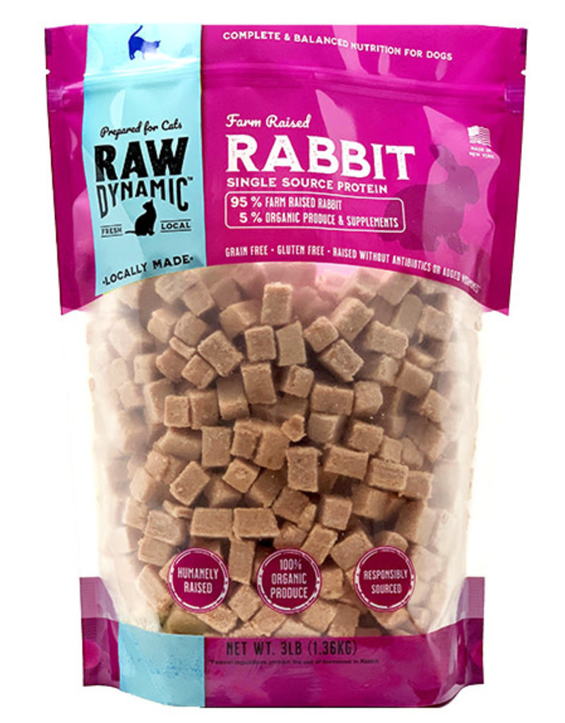 Raw Dynamic Raw Dynamic Feline Cat Rabbit 3 Lb