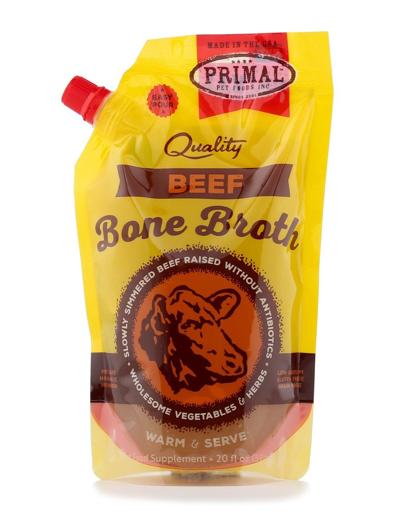Primal Dog Frozen Beef Bone Broth 20 Oz
