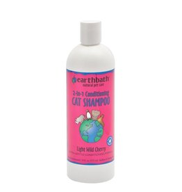 Earthbath Cat Shampoo, 2 in 1 Cherry, 16 OZ