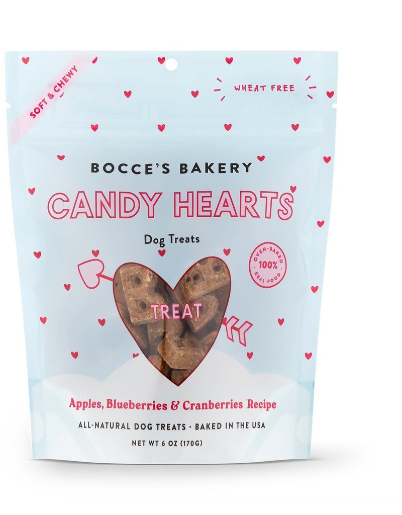 Bocce's Bakery Bocce Bakery Candy Hearts Dog Biscuits 6oz