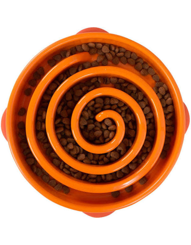 Outward Hound Fun Feeder Slo Bowl Large/Regular Orange
