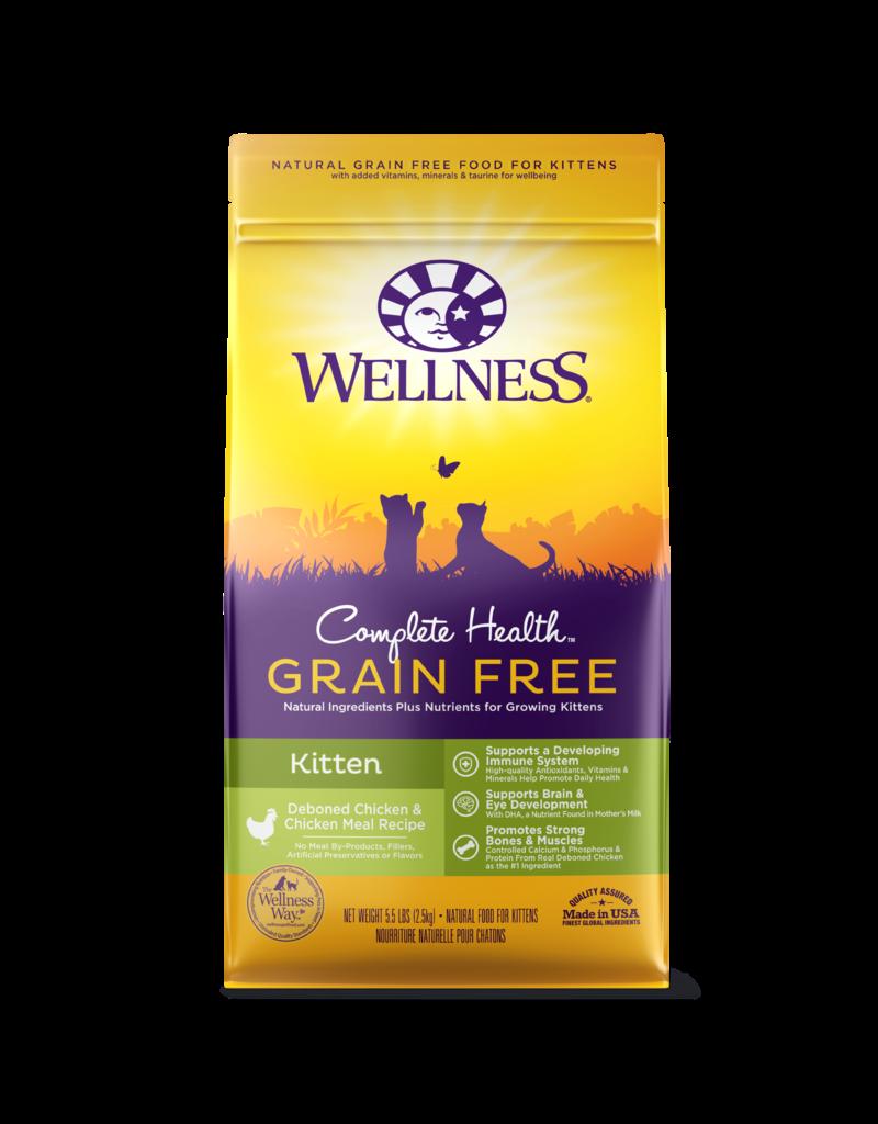 Wellness Dry Cat Complete Health Grain Free Chicken Kitten 5.5 Lb
