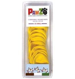 Pawz PAWZ BOOTIES YELLOW EXTRA EXTRA Small XXS 12 CT