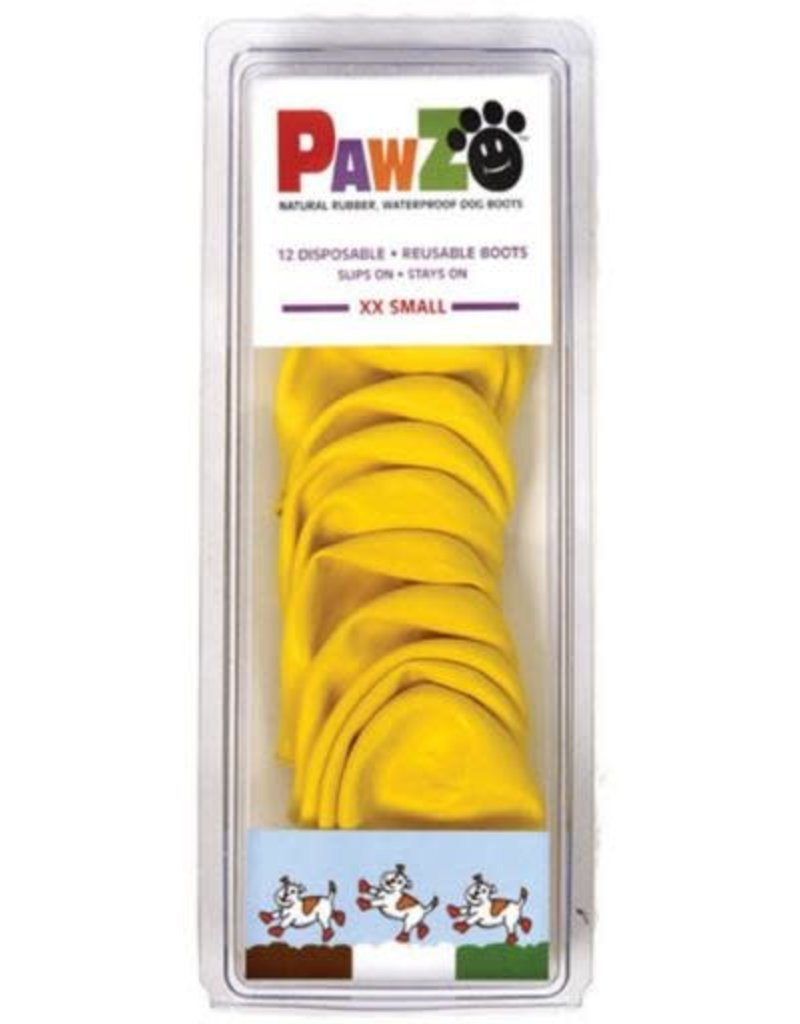Pawz PAWZ BOOTIES YELLOW EXTRA EXTRA Small XXS 12 CT
