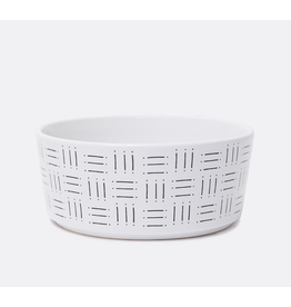 Waggo Waggo Mudcloth Ceramic Bowls  Line Print Medium