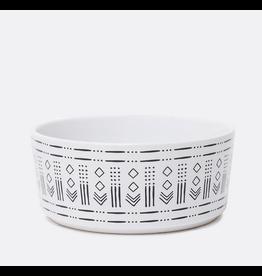 Waggo Waggo Mudcloth Ceramic Bowls  Diamond Print Medium