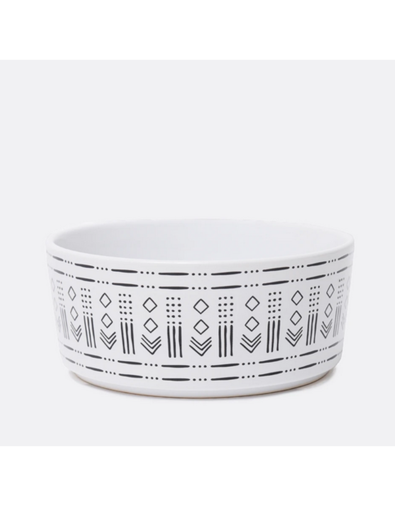 Waggo Waggo Mudcloth Ceramic Bowls  Diamond Print Medium