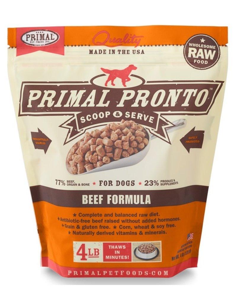 Primal Pronto Frozen Dog Beef 4 LB