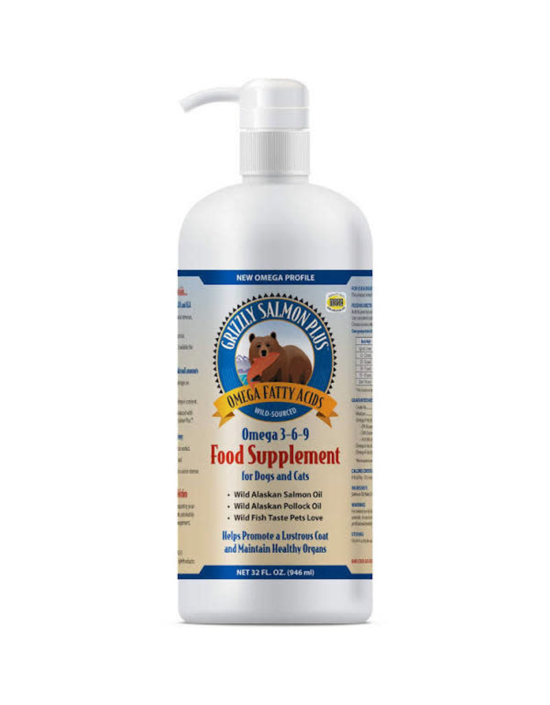 Grizzly Pet Products Grizzly Dog Salmon/Pollock Oil 8 OZ