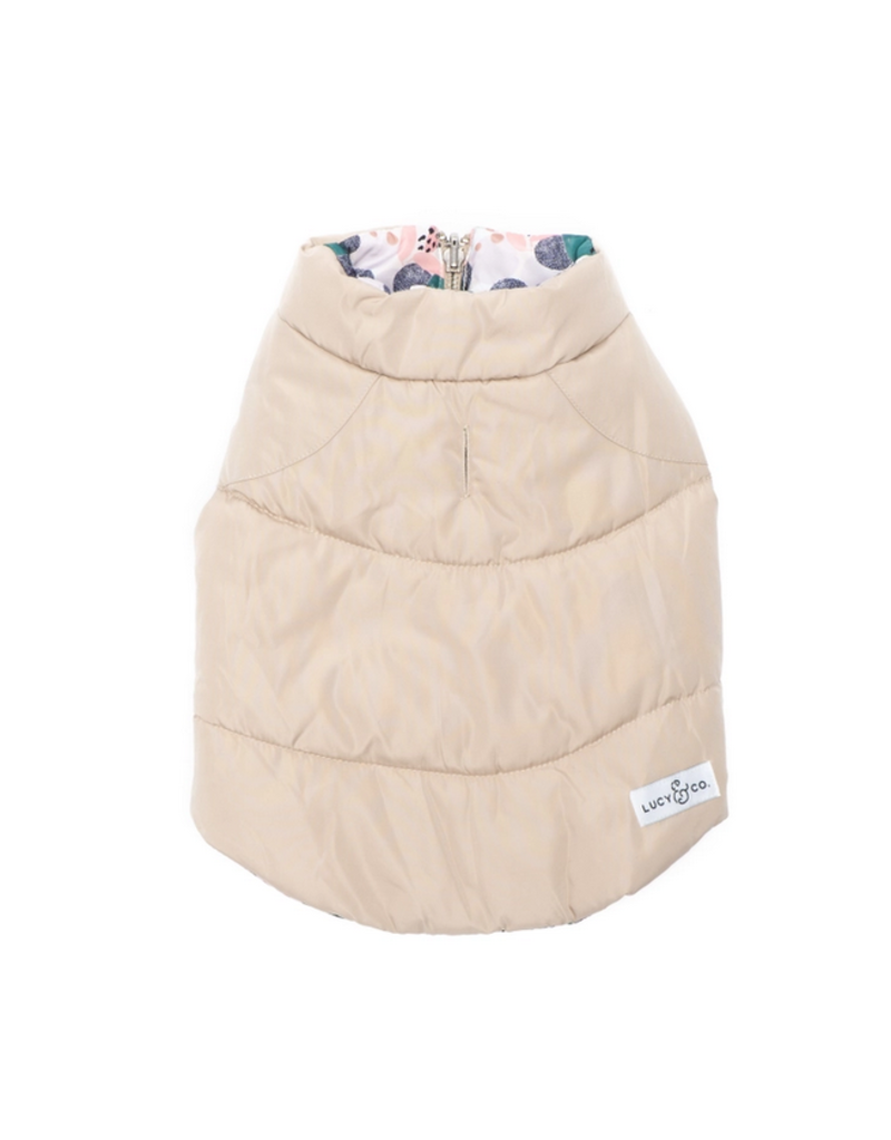 Lucy & Co. Lucy & Co. Reversible Puffer Vest Frolicking Forms 2XL/XXLarge
