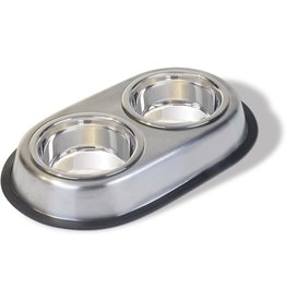 Van Ness Stainless Steel Non Skid Double Dish 16 Oz