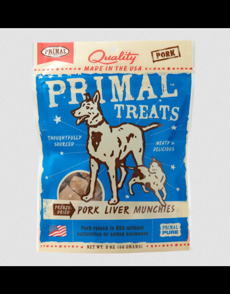 Primal Dog Treats Pork Liver Munchies 2 OZ