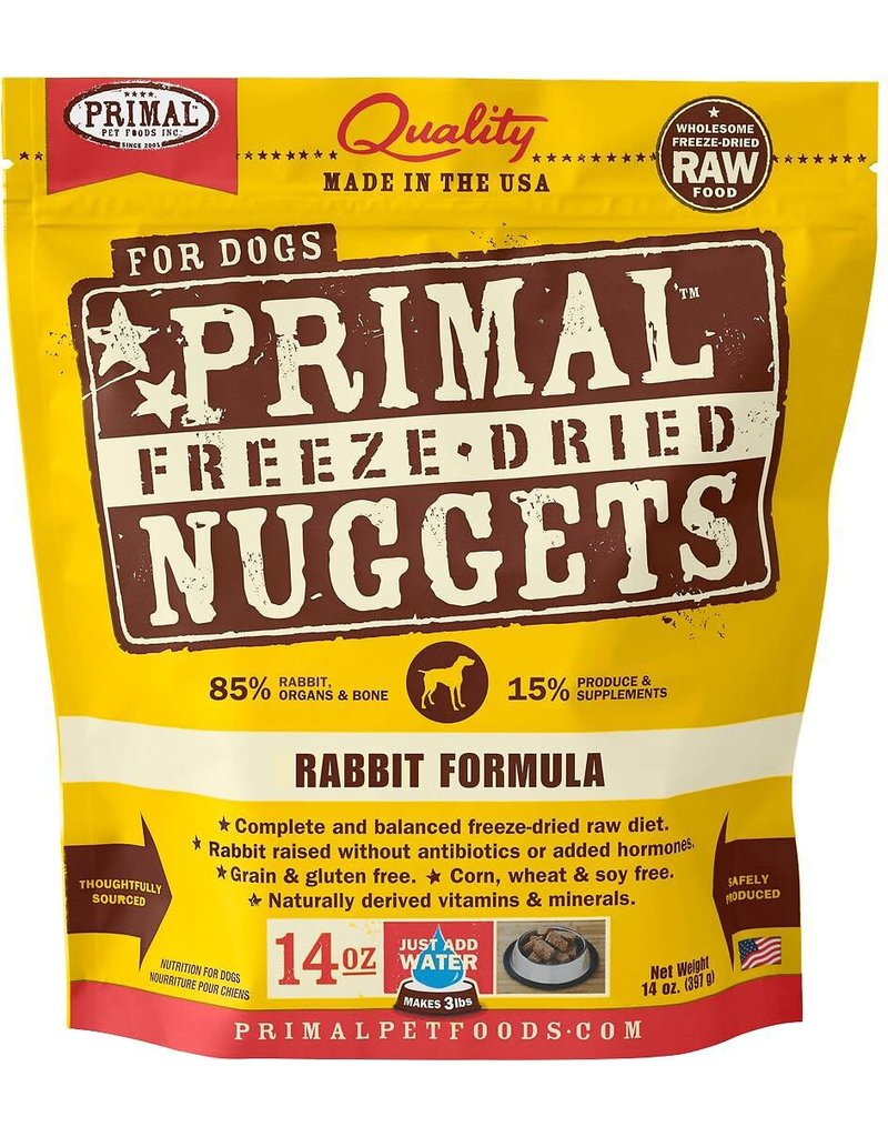 Primal Frozen Raw Rabbit Nuggets Dog 3 LB